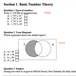 IGCSE Maths Questions